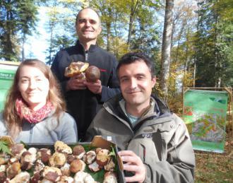 Jean Rondet, Fernando Martínez y Pascale Malenfant en el 03 Seminario Micosylva+. (c) Jean-Louis Courleux