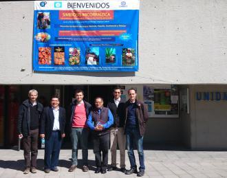 Parte del equipo científico-técnico del proyecto Micosylva+ en su visita de trabajo a México DF